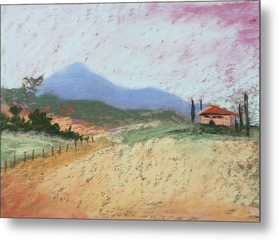 Fields Of Tuscany Metal Print