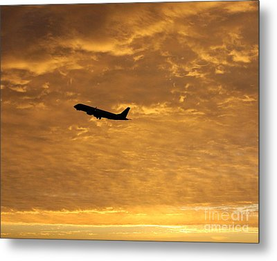 Metal Print featuring the photograph Fiery Skies by Alex Esguerra