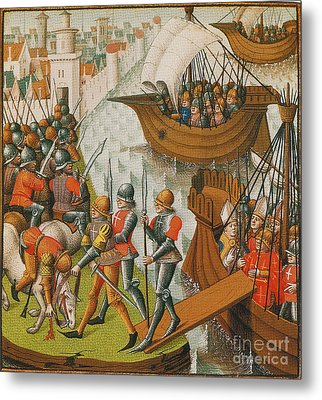 Fifth Crusade Siege Of Damietta 1218 Metal Print by Photo Researchers