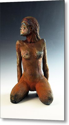 Figure Study Two Front View Metal Print by Alejandro Sanchez