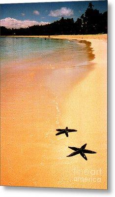 Fiji Beach With Starfish Metal Print by Jerome Stumphauzer