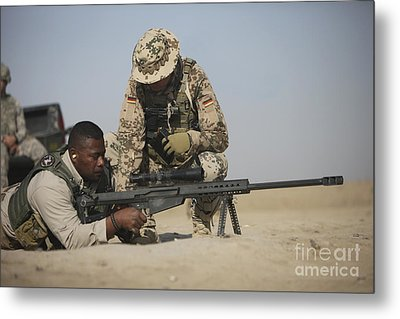 Fijian Contractor Clearing His Barrett Metal Print by Terry Moore