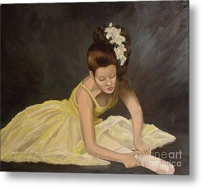 Metal Print featuring the painting Final Preparations by Julie Brugh Riffey
