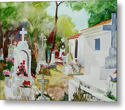Metal Print featuring the painting Final Resting Place by Tom Riggs