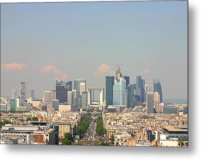 Financial Buidings In Paris Metal Print by All right rs