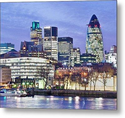 Financial City Skyline, London Metal Print by John Harper
