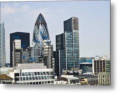 Financial Skyline Of London Metal Print by John Harper