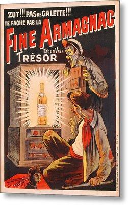 Fine Armagnac Advertisement Metal Print