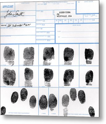 Fingerprint Identification Application Metal Print by Science Source