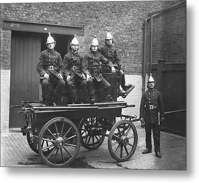 Fire Cart Metal Print by Topical Press Agency