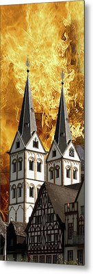 Fire Metal Print by Cecil Fuselier
