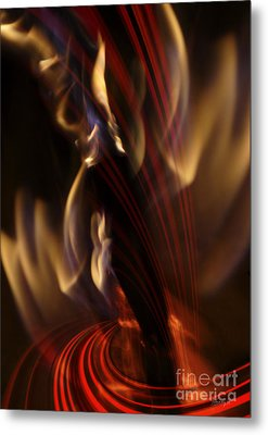 Metal Print featuring the digital art Fire Dance by Johnny Hildingsson