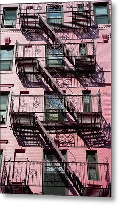Fire Escape Metal Print by Axiom Photographic