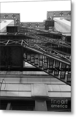 Fire Escape Metal Print by Utopia Concepts