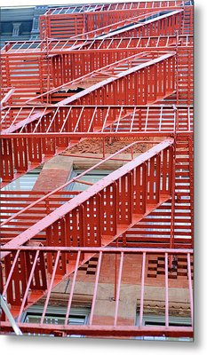 Fire Escape Metal Print by Copyright Eric Reichbaum