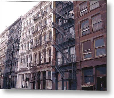 Fire Escapes Color 16 Metal Print by Scott Kelley