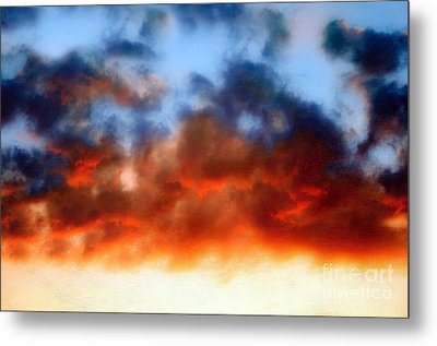 Fire In The Sky Metal Print by Andee Design