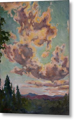 Fire In The Sky Metal Print by Andrew Danielsen