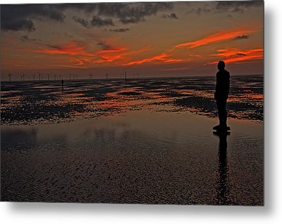 Fire In The Sky Metal Print by Paul Scoullar