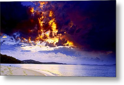 Metal Print featuring the photograph Fire In The Sky by Paul Svensen
