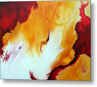 Fire Storm Metal Print by Mary Kay Holladay