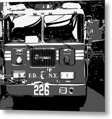 Fire Truck Bw3 Metal Print by Scott Kelley