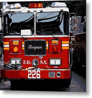 Fire Truck Color 16 Metal Print by Scott Kelley