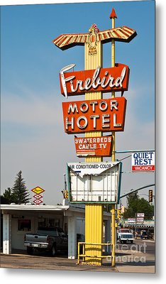 Firebird Motor Hotel Metal Print