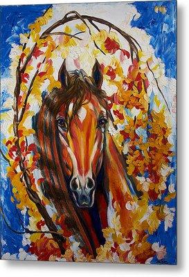 Firefall Horse Metal Print