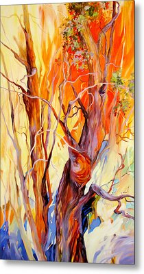 Metal Print featuring the painting Fireglow by Rae Andrews