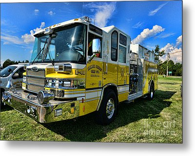 Fireman - Amwell Valley Fire Co. Metal Print by Paul Ward
