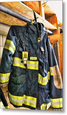Fireman - Saftey Jacket Metal Print by Paul Ward