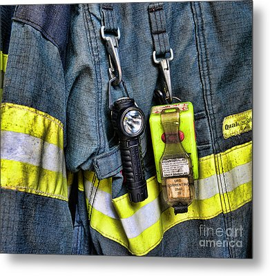 Fireman - The Fireman's Coat Metal Print by Paul Ward