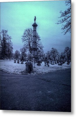 Firemans Monument Infrared Metal Print by Joshua House