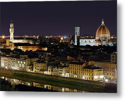 Firenze Skyline Metal Print