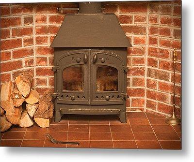 Fireplace Metal Print by Tom Gowanlock