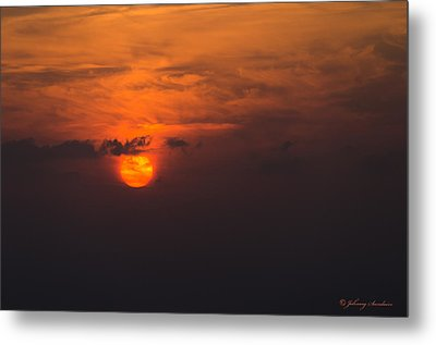 Firery Sunset Metal Print by Johnny Sandaire