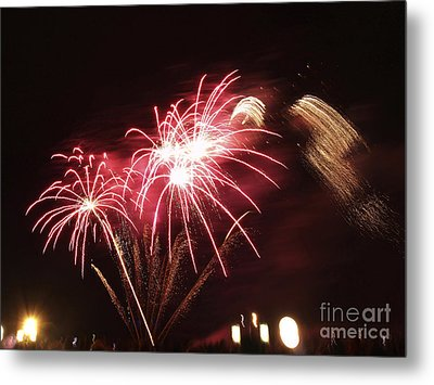 Firework Display Metal Print
