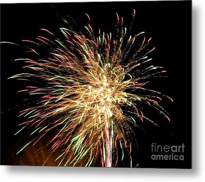 Firework Metal Print by Meandering Photography