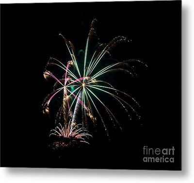 Metal Print featuring the photograph Fireworks 11 by Mark Dodd