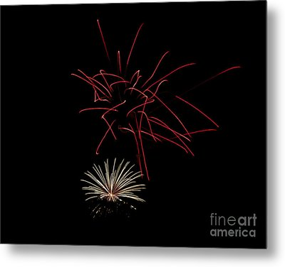 Metal Print featuring the photograph Fireworks 6 by Mark Dodd