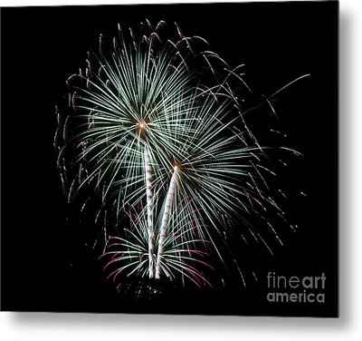 Metal Print featuring the photograph Fireworks 8 by Mark Dodd