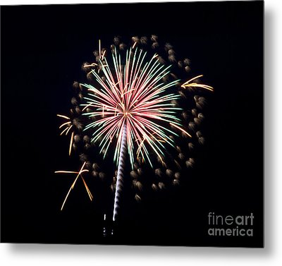 Metal Print featuring the photograph Fireworks 9 by Mark Dodd