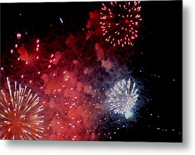 Metal Print featuring the photograph Fireworks II by Kelly Hazel