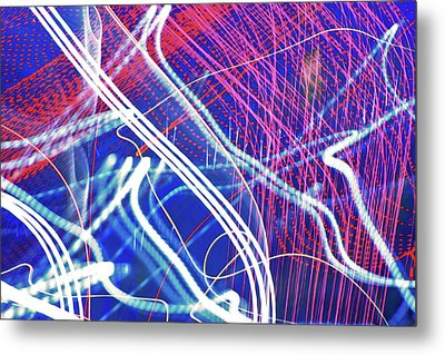 Fireworks In Motion Metal Print