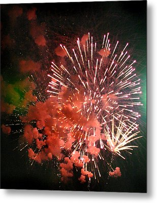 Metal Print featuring the photograph Fireworks by Kelly Hazel