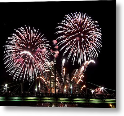 Metal Print featuring the photograph Fireworks by Michael Dorn