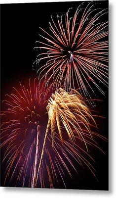 Fireworks Wixom 3 Metal Print by Michael Peychich