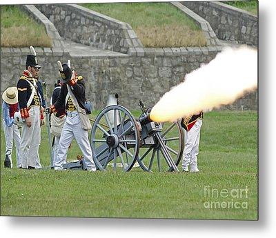 Firing Cannon Metal Print by JT Lewis