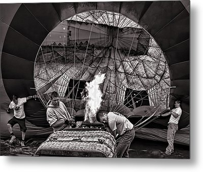Firing The Burners Metal Print by Bob Orsillo